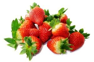 Zähne aufhellen Erdbeeren