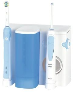 Professionelle Zahnreinigung Zuhause Oral B Care Center 500 Zahnbürste und Munddusche mit zwei Ladestationen