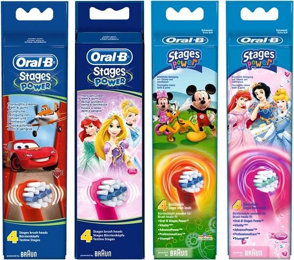 Oral B Aufsteckbürsten für Kinder