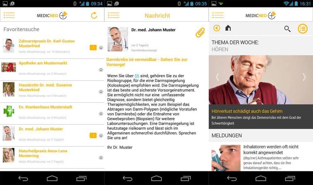 Die medicneo App ist eine moderne Plattform für eine verbesserte Patientenkommunikation
